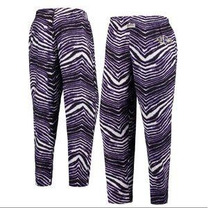Baltimore Ravens Zubaz Zebra Pants
